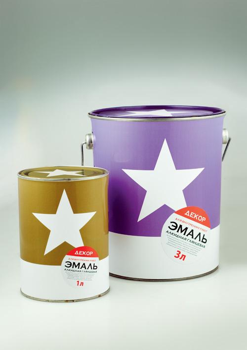 Клиент: Добра Краска Бренд: Звезда Задача: дизайн упаковки марки лакокрасочной продукции.